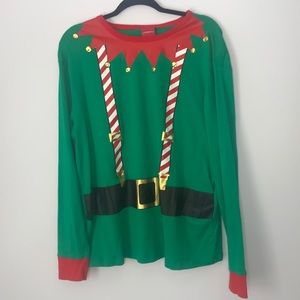 Wondershop Elf Christmas Pajamas XL